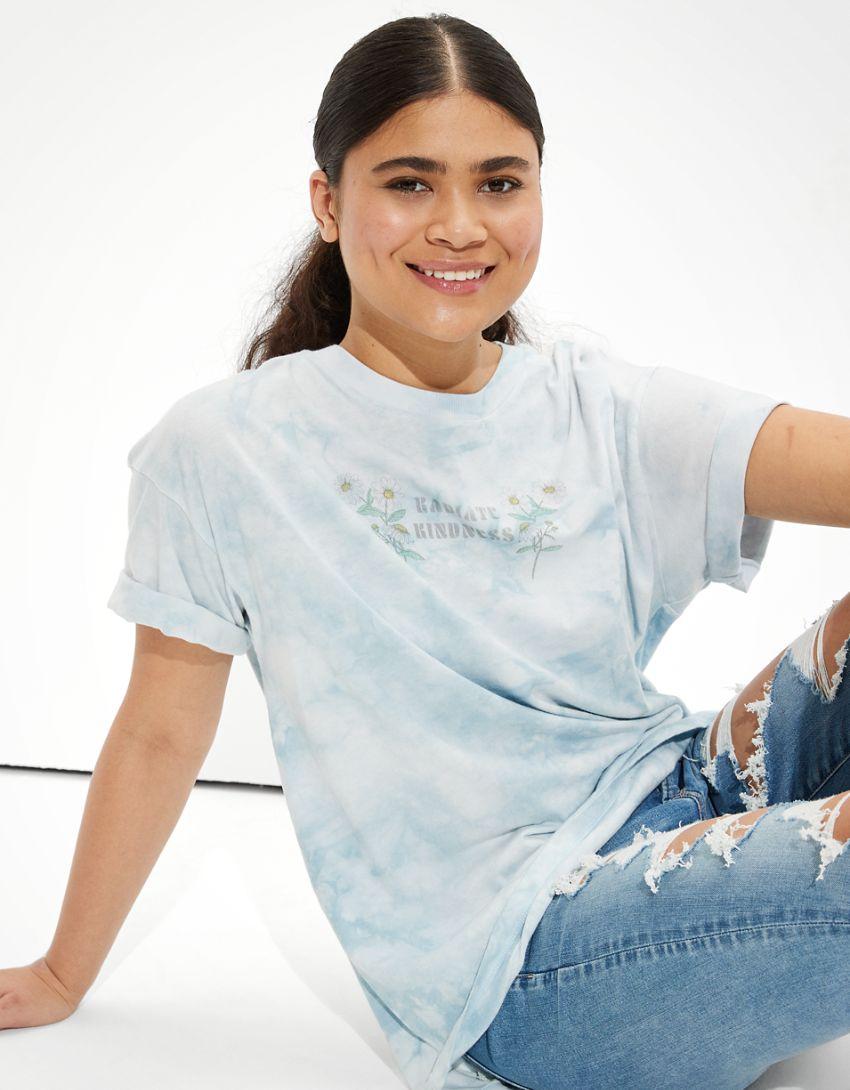 AE Oversized Tie-Dye Graphic T-Shirt