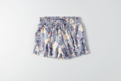 Silky Petal-Front Soft Shorts