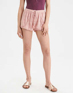 Ae Lace Trim Tulip Short by American Eagle Outfitters