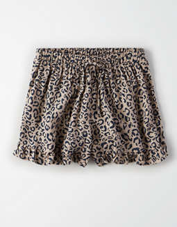 Ae High Waisted Leopard Print Runner Shorts by American Eagle Outfitters