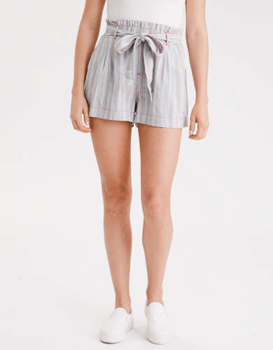 AE High-Waisted Paperbag Soft Short