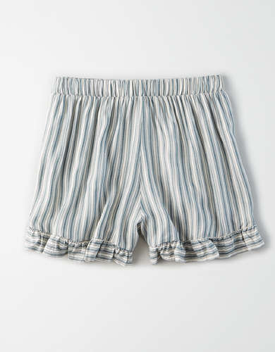 AE High-Waisted Striped Tulip Runner Short