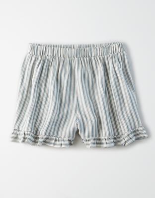 AE Полосатые шорты для бега с высокой талией фасона