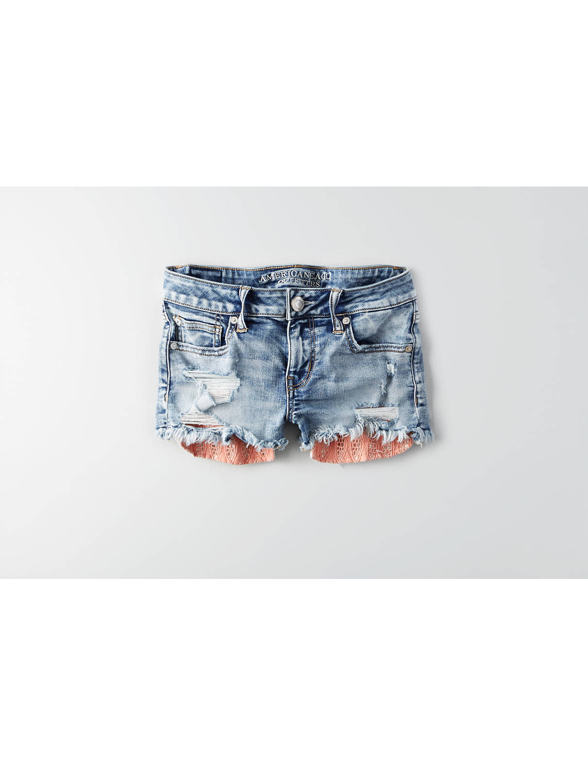 Display product reviews for AEO Denim X Shortie