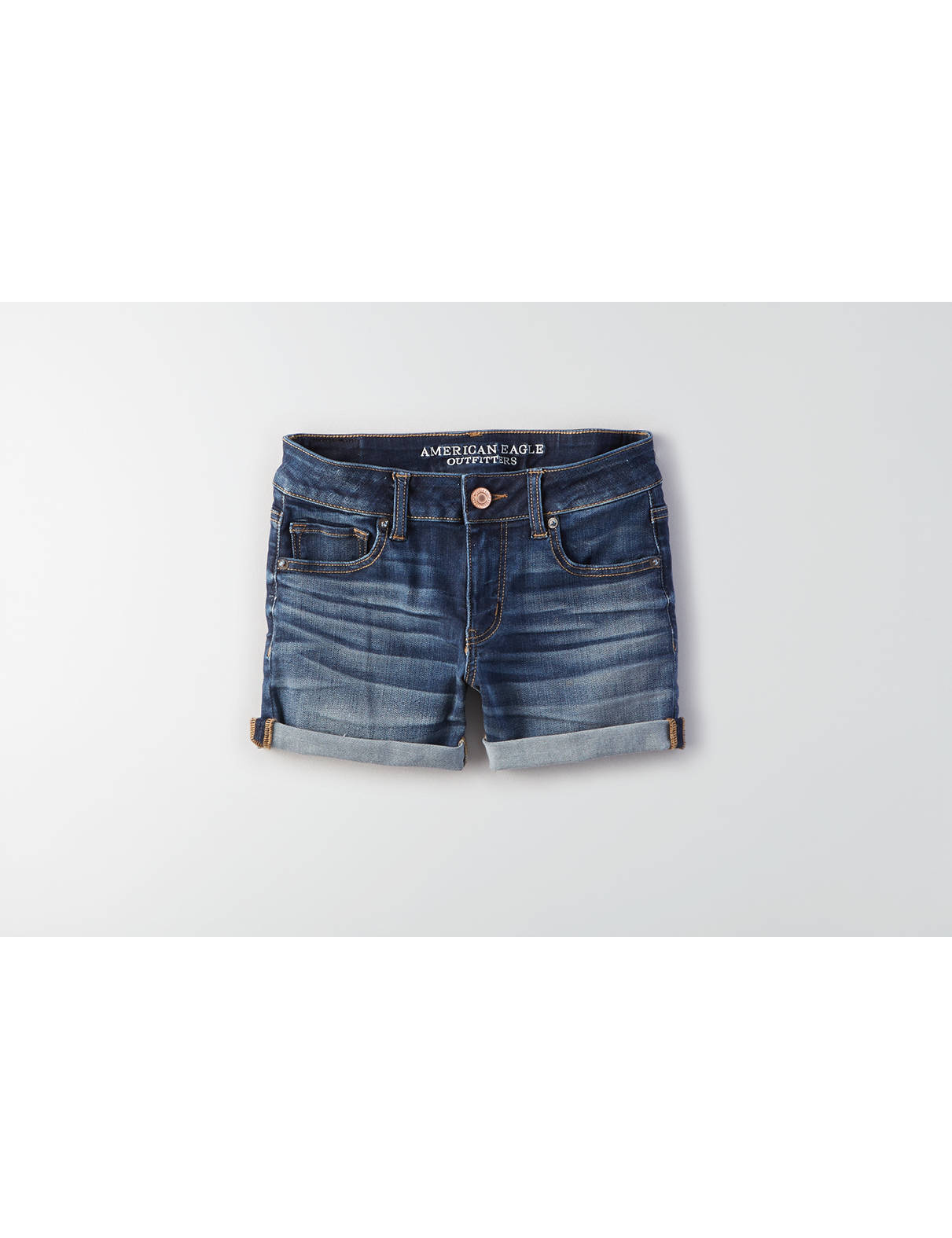 Display product reviews for AE Denim X Cafe Midi Short