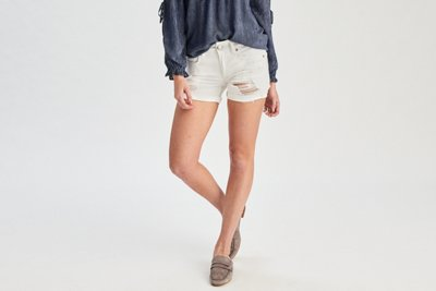 Denim X Midi Short