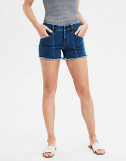 Denim Midi Short