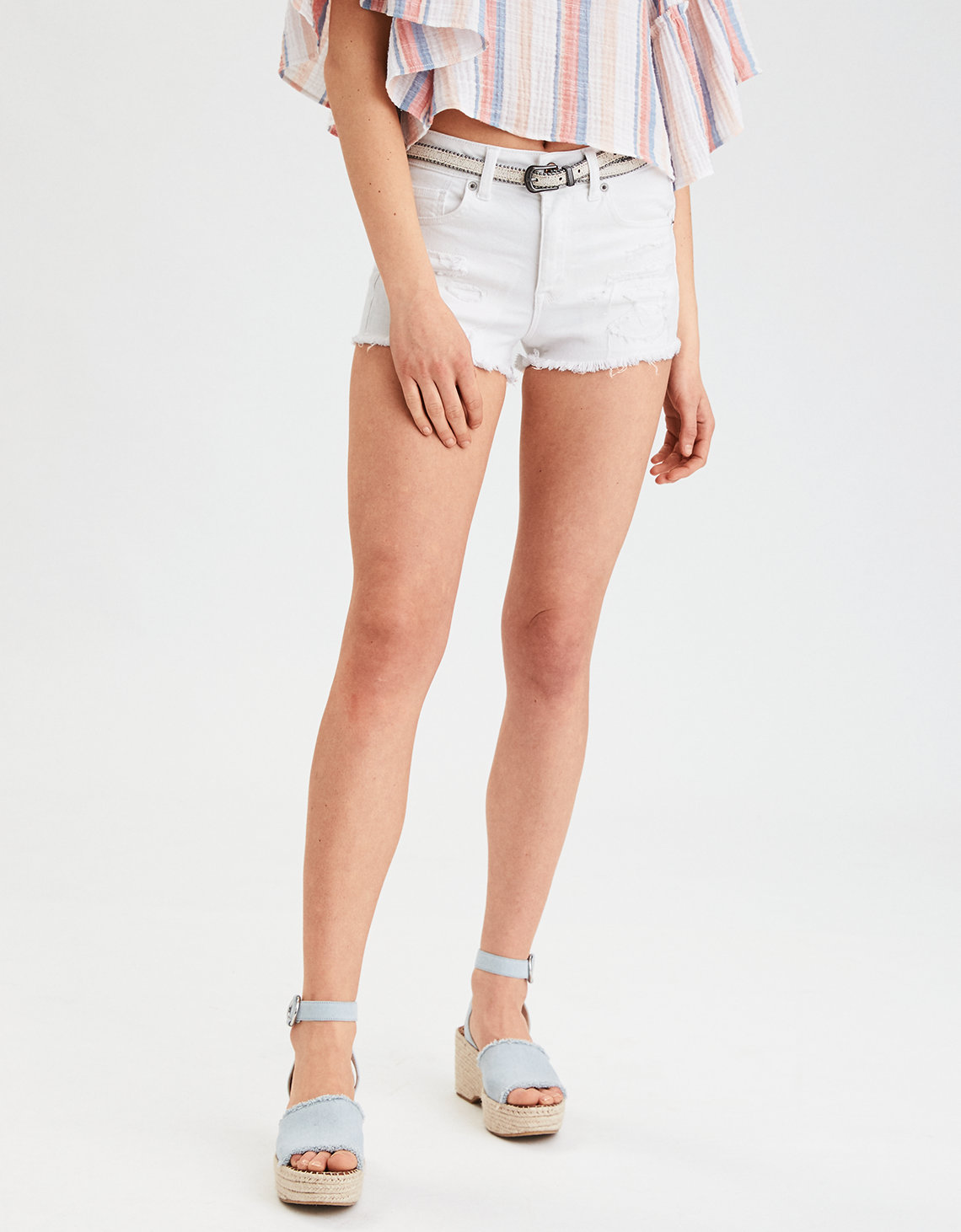 8d058d6df53 ... High-Waisted Denim Short Short. Placeholder image. Product Image