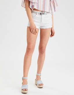 AE Denim X High-Waisted Denim Short Short