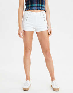 AE Ne(X)t Level High-Waisted Denim Sailor Short Short