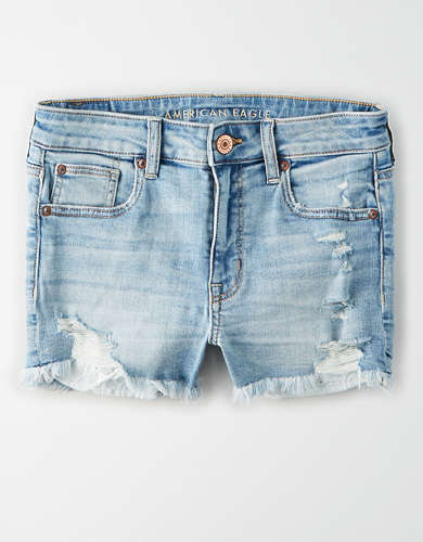 High-Waisted Denim Short Short