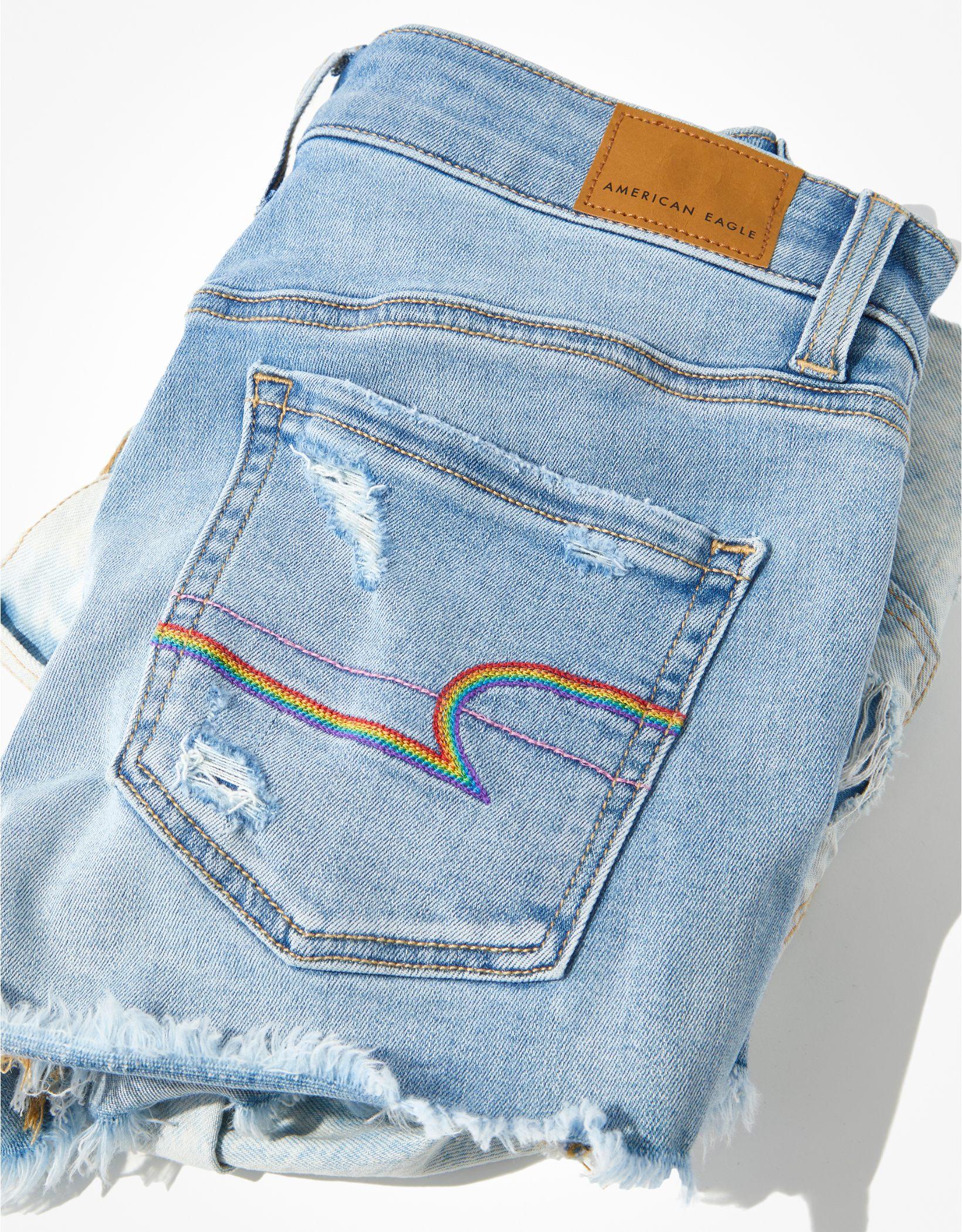 AE Pride Ne(x)t Level High-Waisted Denim Short Short