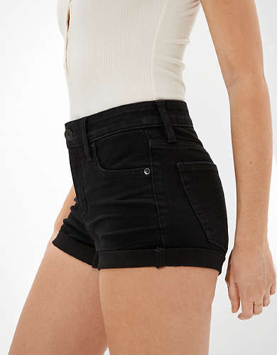 AE Dream Curvy High-Waisted Denim Short Short
