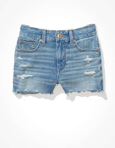 AE Dream High-Waisted Denim Short Short