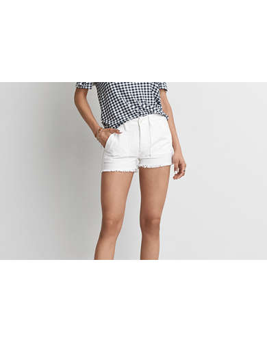 Womens White Cotton Shorts | American Eagle Outfitters