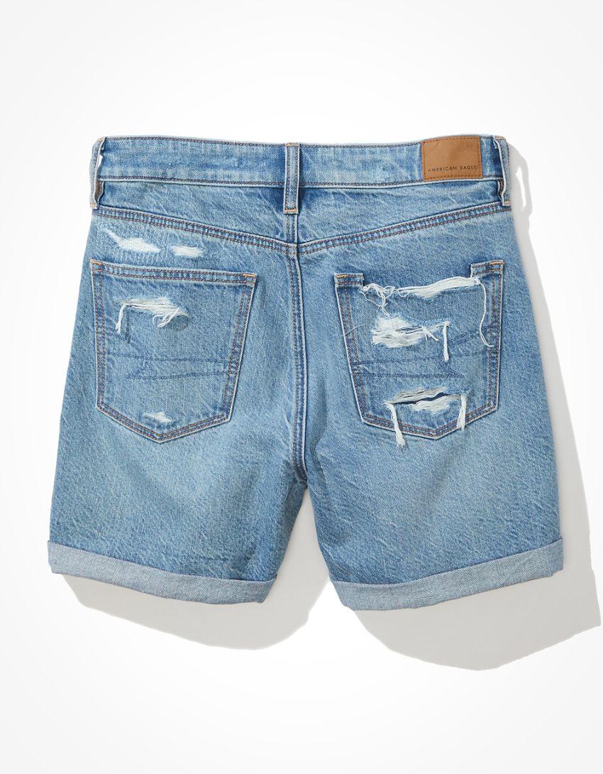 AE Denim Baggy Mom Shorts