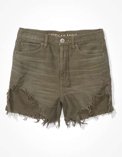 מכנסי ג'ינס קצרים Highest Waist Mom אמריקן איגל