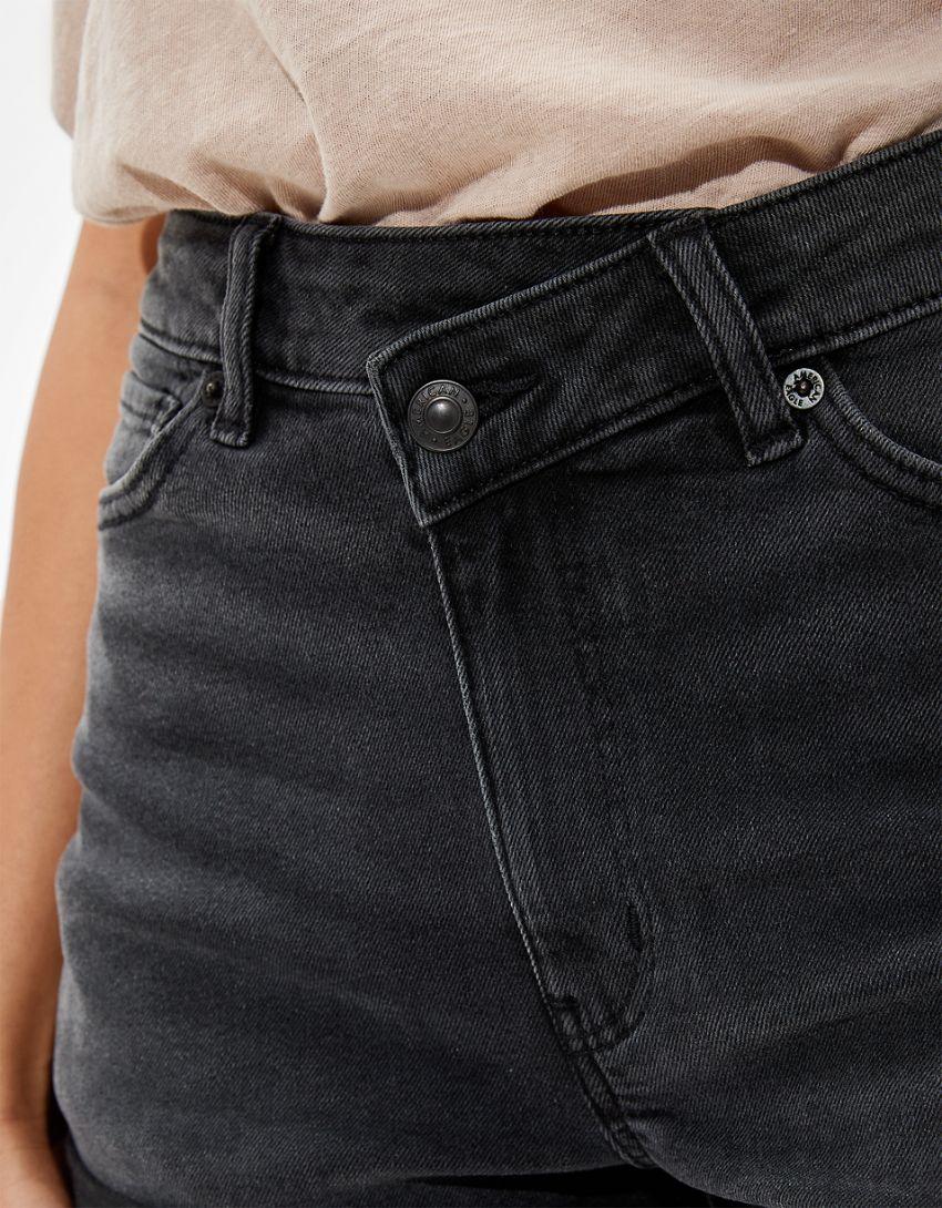 AE Stretch Highest Waist Crossover Denim Mom Shorts