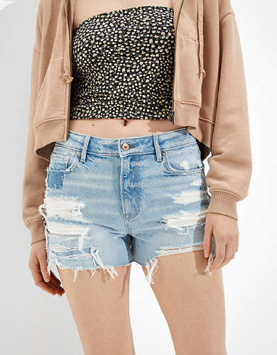AE High-Waisted Denim Tomgirl Midi Short