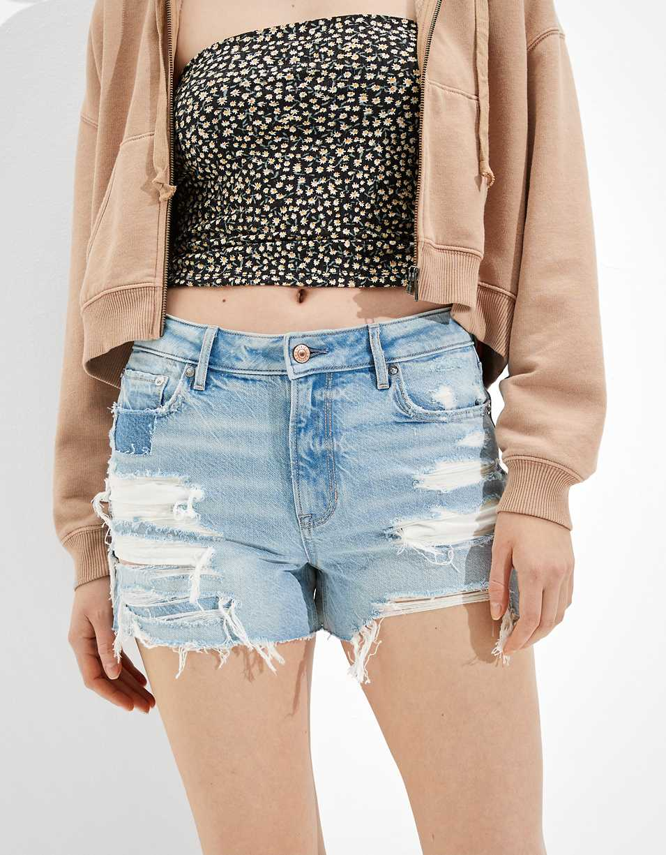 AE Denim Tomgirl Midi Short