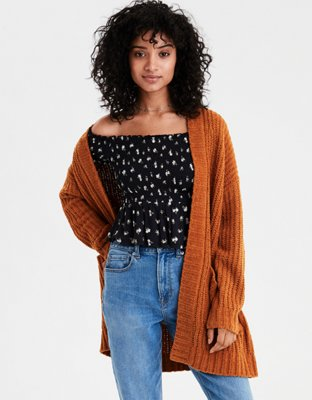 Ae Ribbed Boyfriend Cardigan by American Eagle Outfitters