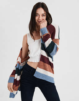 Ae Striped Boyfriend Cardigan by American Eagle Outfitters