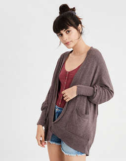 Ae Plush Pocket Cardigan by American Eagle Outfitters