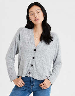 AE Plush Boyfriend Cardigan