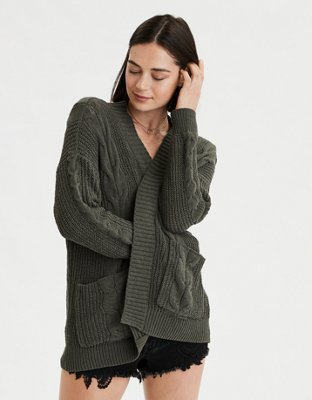 Ae Cable Cardigan by American Eagle Outfitters