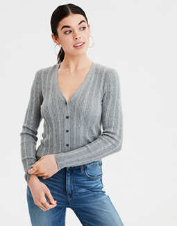 AE Bodycon Cable Knit Cardigan