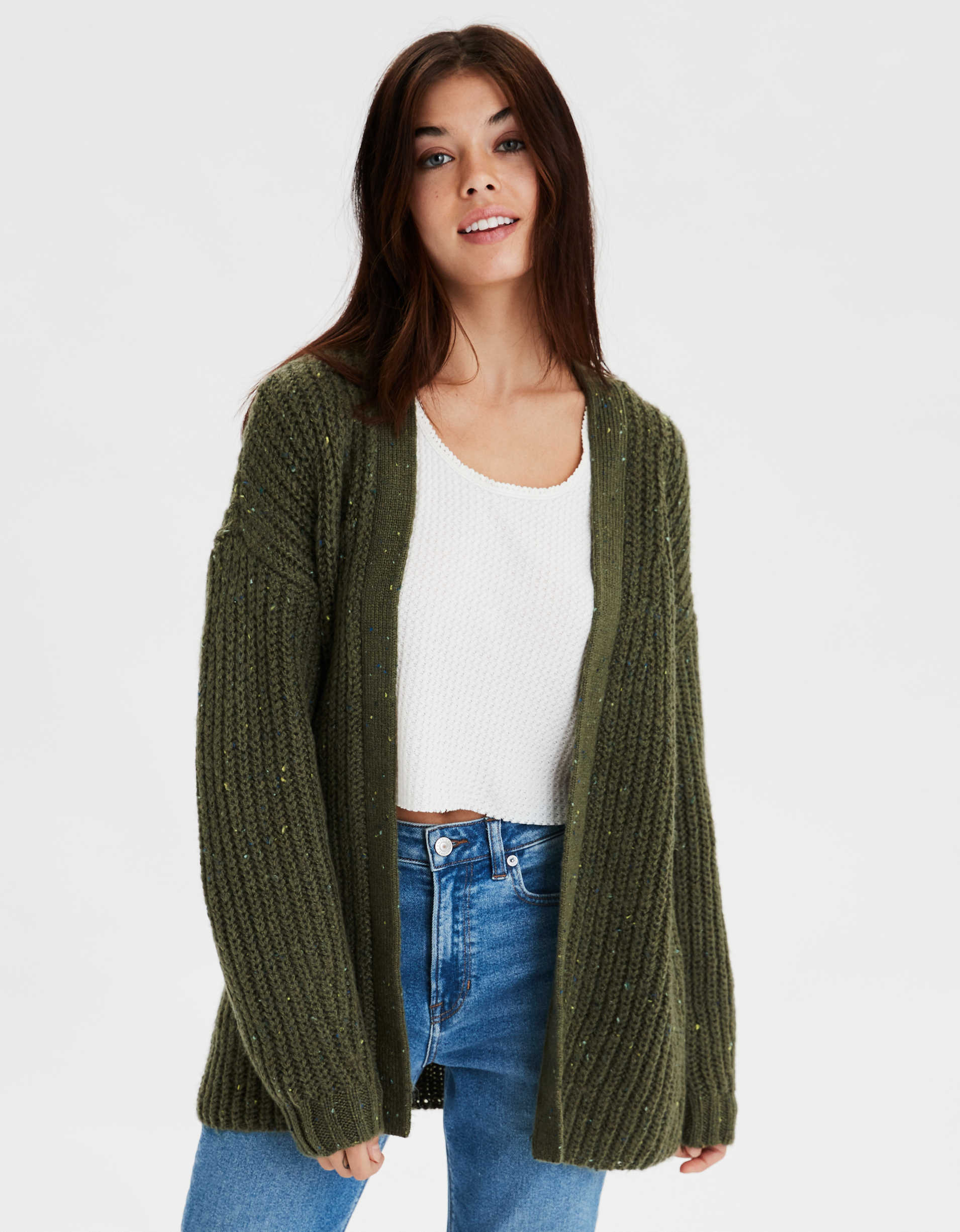 AE Slouchy Long Cardigan