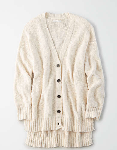 AE Hi-Low Button Up Cardigan