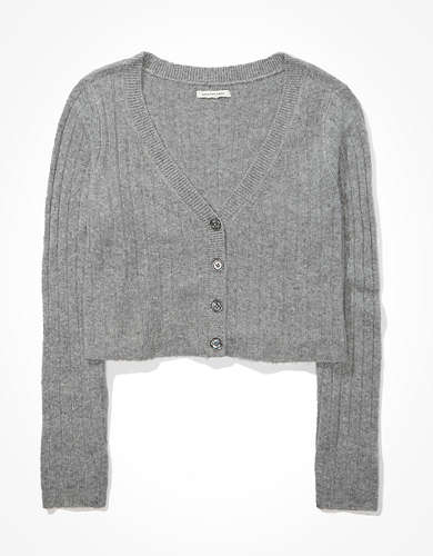 AE Cropped Dreamspun Button Up Cardigan