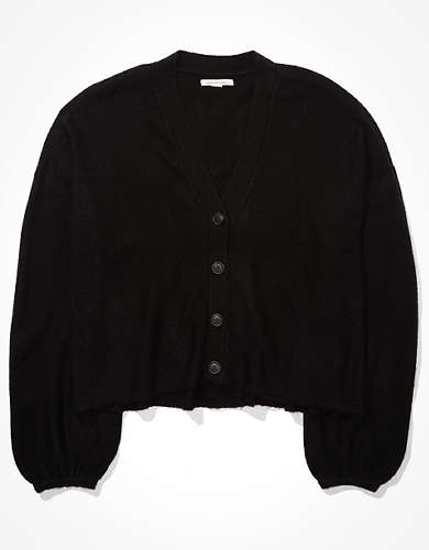 AE Cropped Dreamspun Balloon Sleeve Cardigan