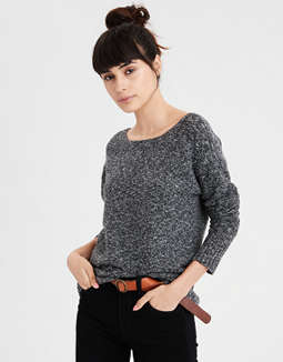 Ae Back Lace Up Sweater by American Eagle Outfitters