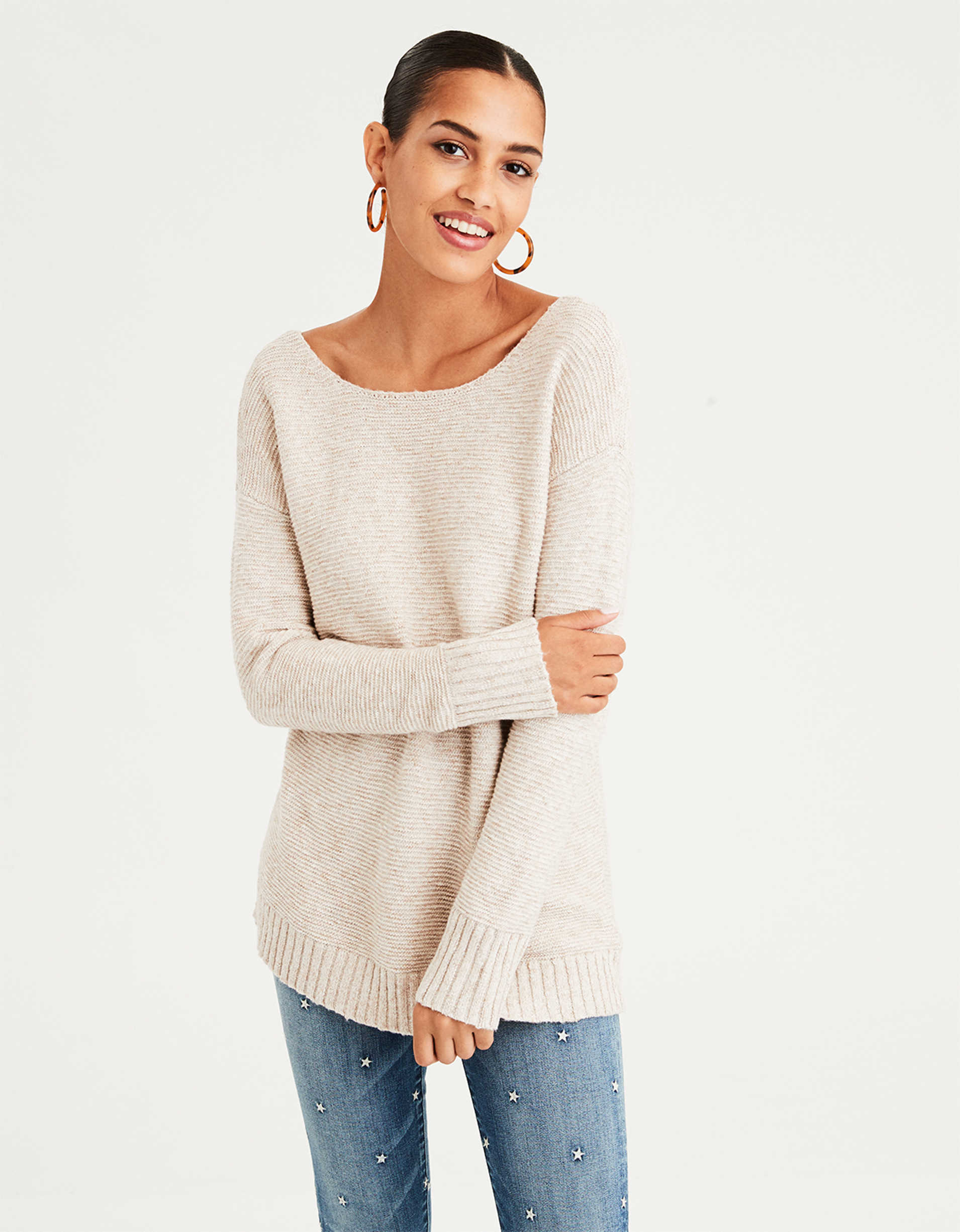 AE Back Lace Up Sweater