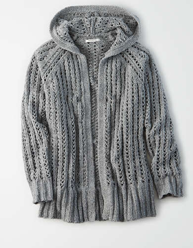 AE Hooded Cardigan Sweater