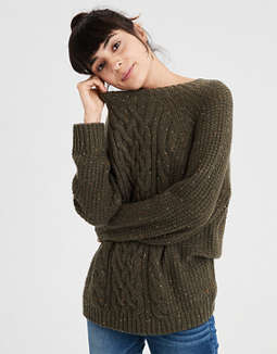 Ae Cable Knit Pullover Sweater by American Eagle Outfitters