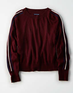 Ae Slouchy Arm Stripe Pullover by American Eagle Outfitters