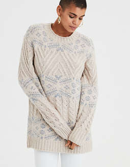 Ae Oversized Patterned Pullover by American Eagle Outfitters