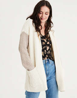 Ae Colorblock Shawl Collar Cardigan Sweater by American Eagle Outfitters
