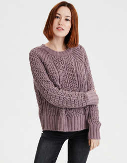 Ae Chenille Pullover Sweater by American Eagle Outfitters