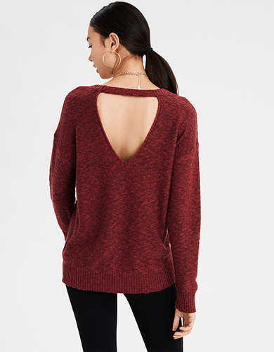 AE Open Back Oversized Sweater