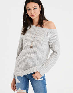 Ae One Shoulder Pullover Sweater by American Eagle Outfitters