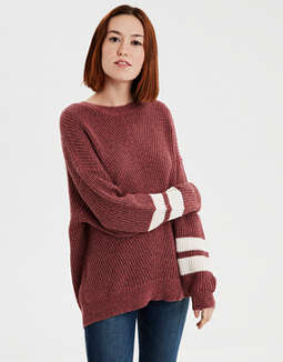 Ae Varsity Stripe Pullover by American Eagle Outfitters