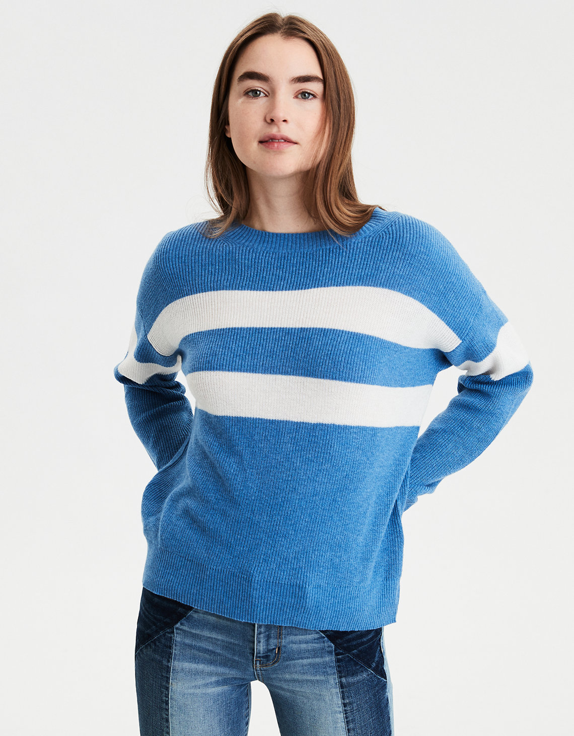 AE Slouchy Striped Sweater