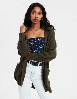 Ae Slouchy Pointelle Cardigan by American Eagle Outfitters