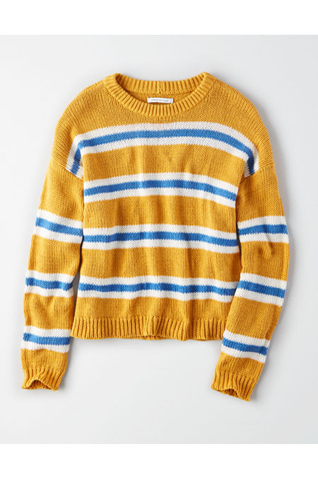AE Slouchy Striped Pullover Sweater