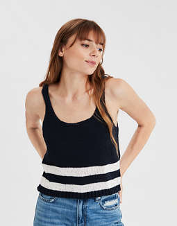AE Striped Sweater Tank Top