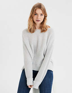 d8589f3736e placeholder image AE Lace Up Pullover Sweater ...